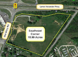 Up to 16 acres Retail or Office Land - SE Corner